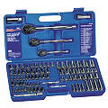 "1/4"", 3/8"", 1/2""Drive SAE/Metric Chrome Socket Wrench Set, Number of Pieces: 89"