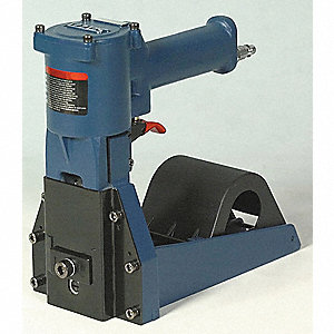Air Hand Clinch Stapler, Bottom, Medium Duty, Staple Capacity 1000, Crown 1-1/4""