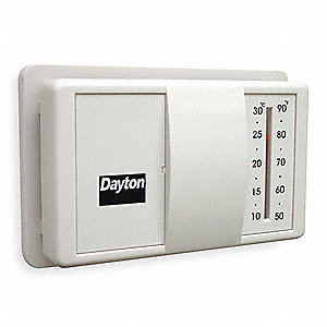 LOW V THERMOSTAT,HEAT ONLY,WHITE