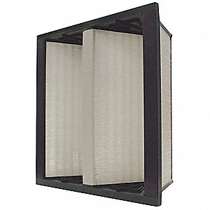 24x24x12 Fiberglass V-Bank Air Filter with MERV13 and 85% Filter Efficiency