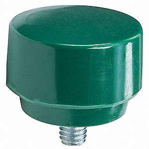 Hammer Tip,1 1/2 In,Tough,Green,Rawhide