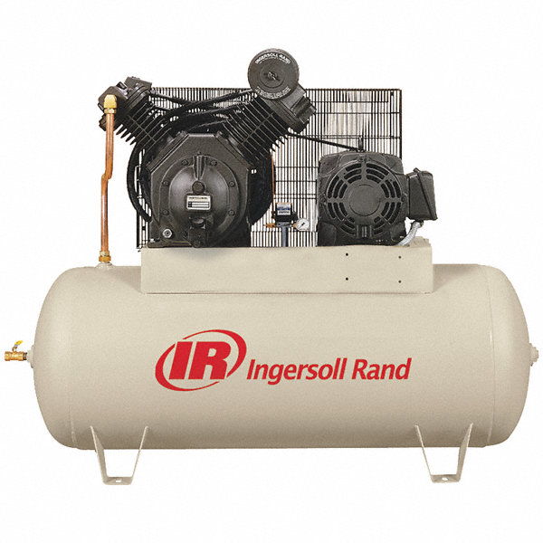Ingersoll rand 3 phase electrical horizontal tank for Ingersoll rand air compressor electric motor