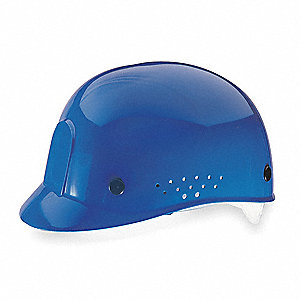Blue Polyethylene Bump Cap, Fits Hat Size: 6-1/2 to 8