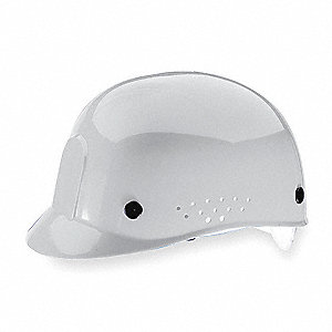 White Polyethylene Bump Cap, Fits Hat Size: 6-1/2 to 8