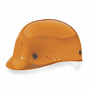 Orange Polyethylene Vented Bump Cap, Style: Perforated Sides, Fits Hat Size: 6-1/2 to 8