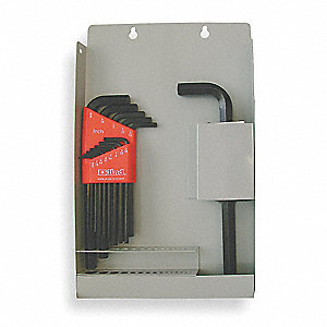 Long L-Shaped SAE Black Oxide Hex Key Set, Number of Pieces: 14