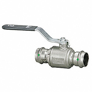 "316 Stainless Steel Press x Press Ball Valve, Locking Lever, 1/2"" Pipe Size"