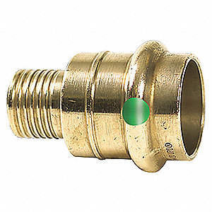 "Bronze PEX and Press Fit Adapter, Press x PEX Connection Type, 1"" Tube Size"