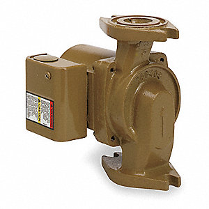 1/6 HP Bronze Wet Rotor, Maintenance Free Hot Water Circulator Pump