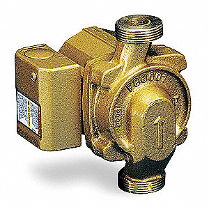 1/40 HP Bronze Wet Rotor, Maintenance Free Hot Water Circulator Pump