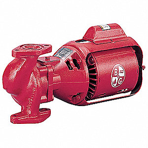 1/6 HP Cast Iron 3-Piece Oil-Lubricated Booster Hot Water Circulator Pump