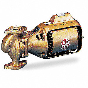 1/6 HP Low Lead Bronze 3-Piece Oil-Lubricated Booster Hot Water Circulator Pump