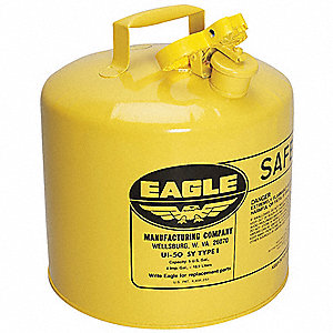 Type I Can Type, 5 gal., Diesel, Galvanized Steel, Yellow