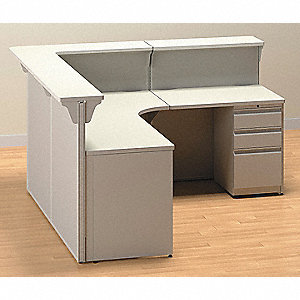 Non Wired Workstation,Reception 2,Gray