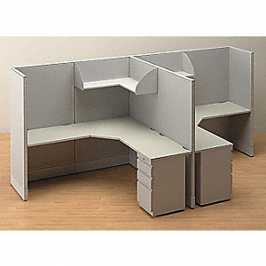 Non Wired Workstation,Double,Gray