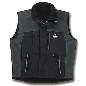 Thermal Vest,3XL,Nylon,Black