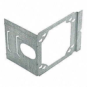 "Pre-Galvanized Steel Mounting Bracket, For Use With 2-1/2"", 3-5/8"", or 4"" Studs"