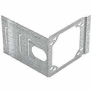 "Pre-Galvanized Steel Mounting Bracket, For Use With 2-1/2"", 3-5/8"", 5-1/2"", or 6"" Studs"