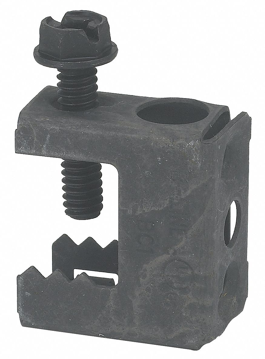 Beam Clamp, 1/2 in Nominal Conduit/Pipe/Threaded Rod, Up to 1/2 in Jaw Opening, 1 EA