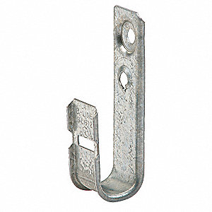Silver J-Hook, Wall Mounting Location, 30 lb. Max. Load Capacity