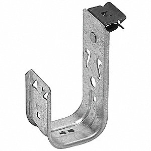 Silver J-Hook, Beam Mounting Location, 30 lb. Max. Load Capacity