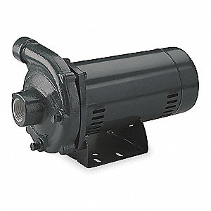 2-1/2 HP Straight Center Discharge Pump, 3 Phase, 208-230/460 Voltage, Cast Iron Housing Material