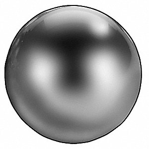 "Corrosion Resistant Precision Ball, Stainless Steel, 440C Alloy Type, Grade 25, 3/16"" Diameter"