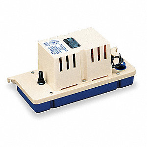 "1/30 HP Condensate Removal Pump, Small Reservoir, 230VAC, 3/8""  Barb Discharge Size"