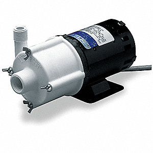 1/25 HP Polypropylene 115V Magnetic Drive Pump, 14.6 ft. Max. Head