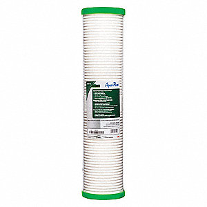"25 Micron Rating Melt Blown Filter Cartridge, 4-5/8"" Diameter, 20"" Height, 45.00 gpm"