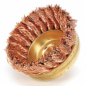 "3"" Knotted Wire Cup Brush, Arbor Hole Mounting, 0.020"" Wire Dia. 3/4"" Bristle Trim Length"