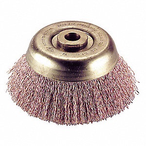 Crimped Wire Cup Brush,4 In.,0.014 In.
