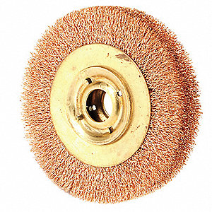 Crimped Wire Wheel Brush,6 In.,1 In. W