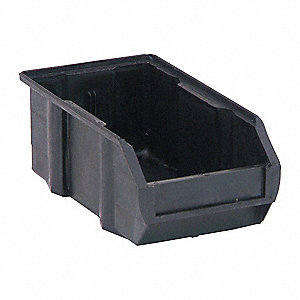 "ESD Conductive Bin, 7-3/8"" Outside Length, 4-1/8"" Outside Width, 3"" Outside Height"