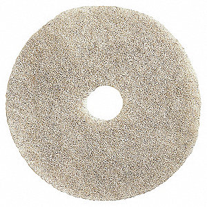 "17"" White Burnishing Pad, Natural Hair, Package Quantity 5"