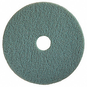 "17"" Polyester Fiber Round Burnishing Pad, 1000 to 3000 rpm, Aqua, 5 PK"