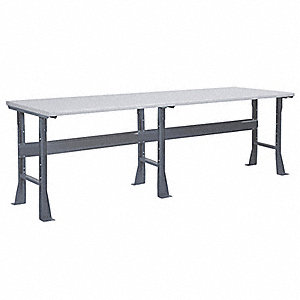 "Workbench, Steel Frame Material, 96"" Width, 30"" Depth  Laminate Work Surface Material"