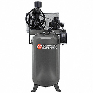 5 HP,  80 gal. Vertical Splash Lubricated Tank Mounted Electric Air Compressor, CFM: 16.6