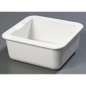 "16-7/8"" x 15-3/4"" x 7-1/4"" 16 Qt. ABS Cold Food Pan"