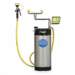 Eye Wash Station, 5.0 gal. Eyewash Tank Capacity, Pop Off Covers