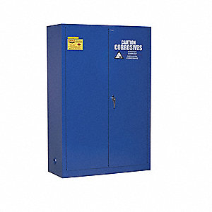 "43"" x 18"" x 65"" Galvanized Steel Corrosive Safety Cabinet, Blue"