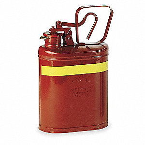 1 gal. Type I Safety Can, Used For Flammables, Red&#x3b; Includes PTFE Gasket, Flame Arrestor
