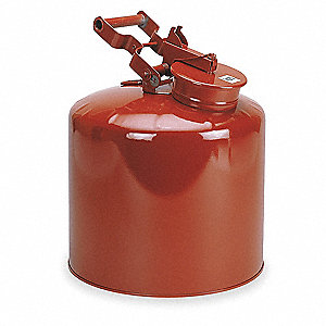 Safety Disposal Can, 5 gal., Flammables, Galvanized Steel, Red