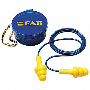Ear Plugs,Reusable,25dB,Yellow,PR