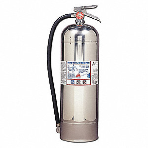 Water Fire Extinguisher with 2.5 gal. Capacity and 55 sec. Discharge Time