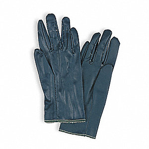 Smooth Nitrile Canvas Gloves, Glove Size: 10, Blue