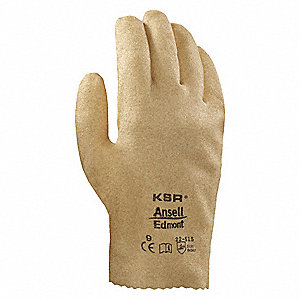 Rough Coated Gloves, Glove Size: M, Yellowish Brown