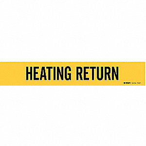 Pipe Mrkr,Heating Return,2-1/2to7-7/8 In