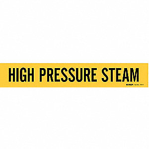 Pipe Marker,High Pressure Steam,Yellow