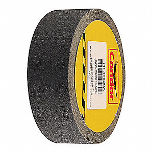 "Solid Black Anti-Slip Tape, 2"" x 60.0 ft., 80 Grit Silicon Carbide, Rubber Adhesive, 1 EA"